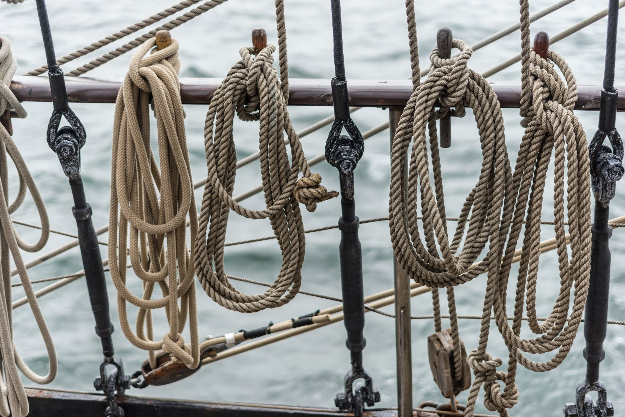 Ropes on tall ship Atlantis