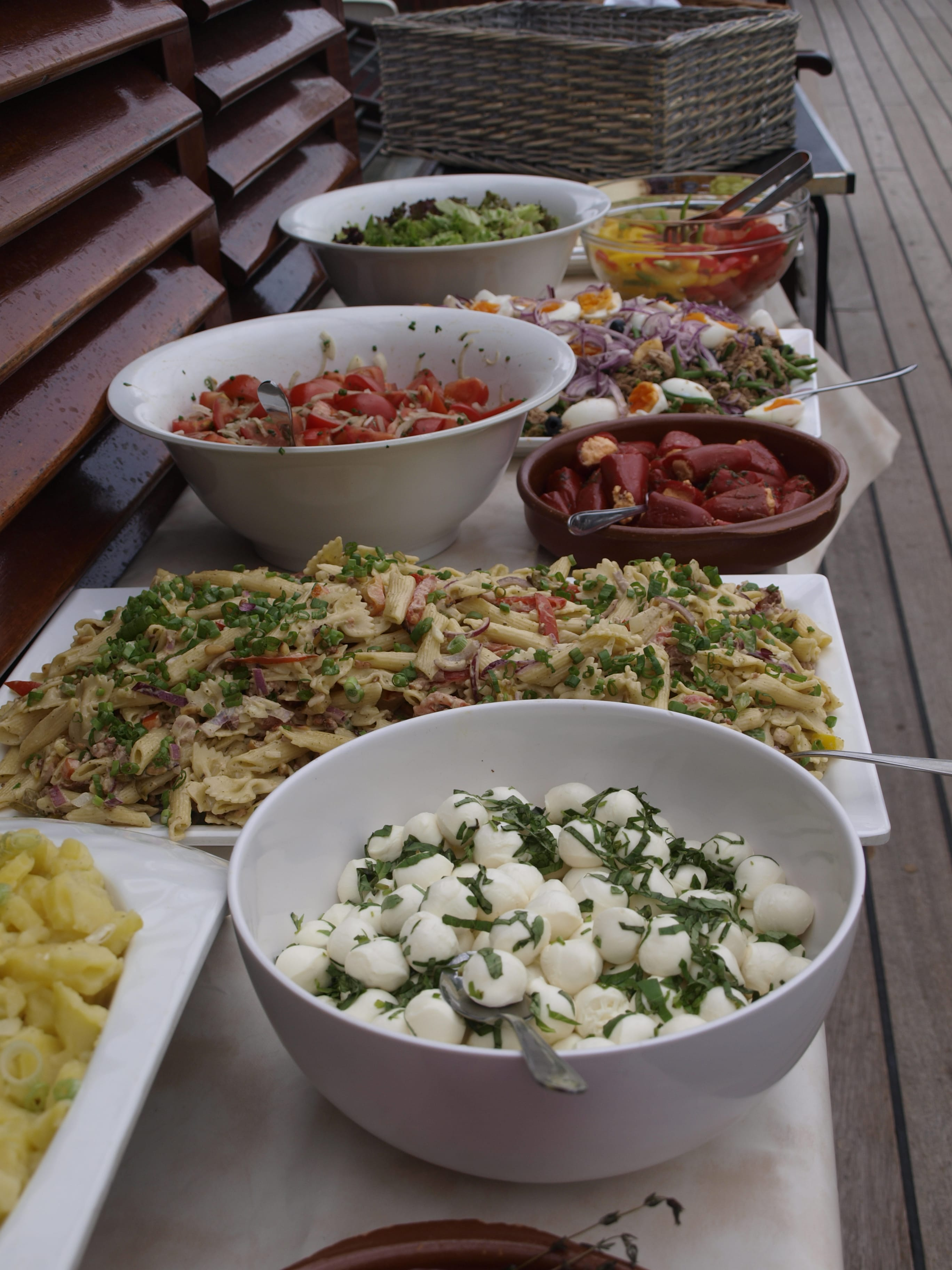 Salad buffet on the tall ship Atlantis