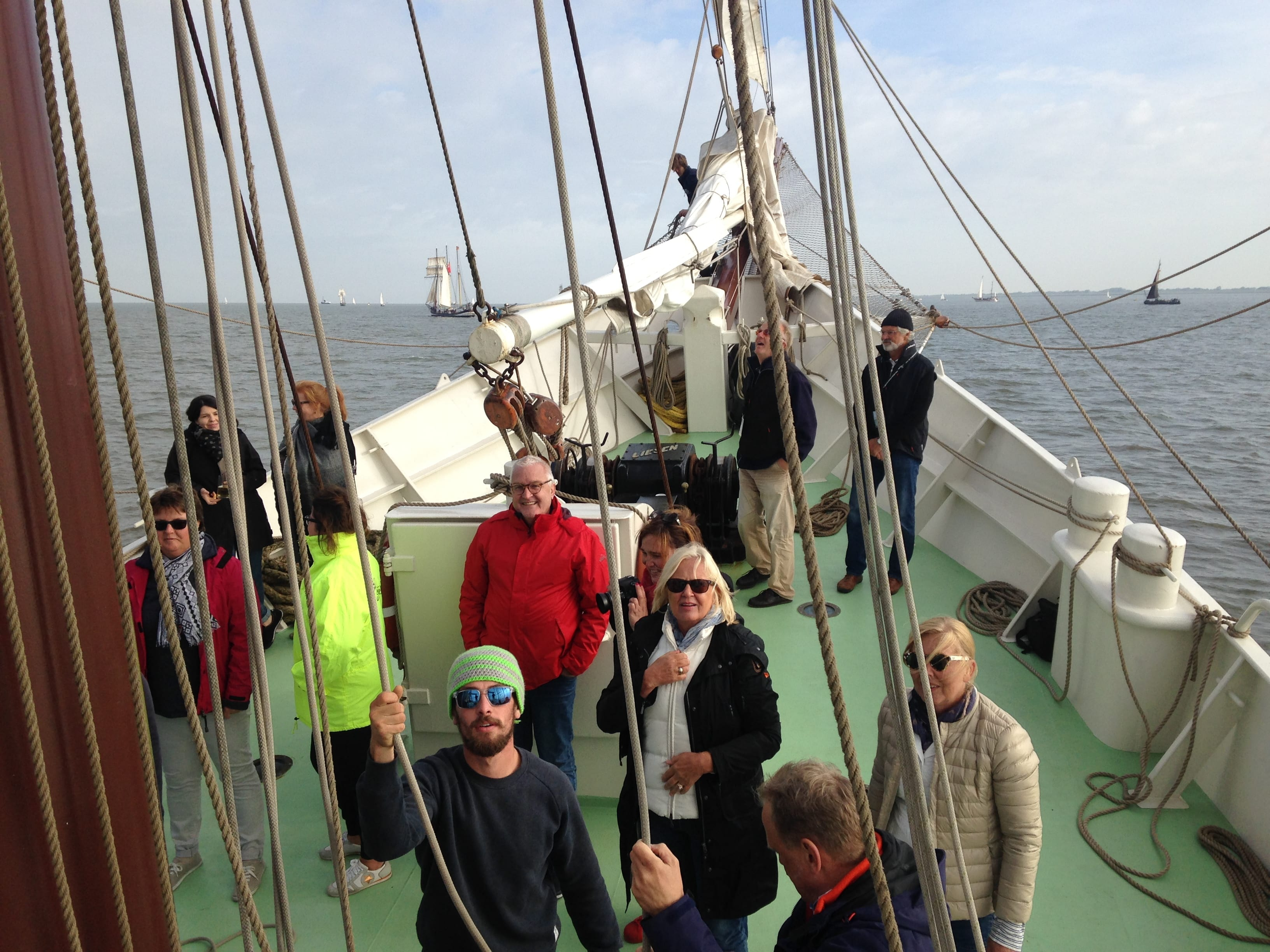 Setting sails with instructions from the crew of the Bark Artemis
