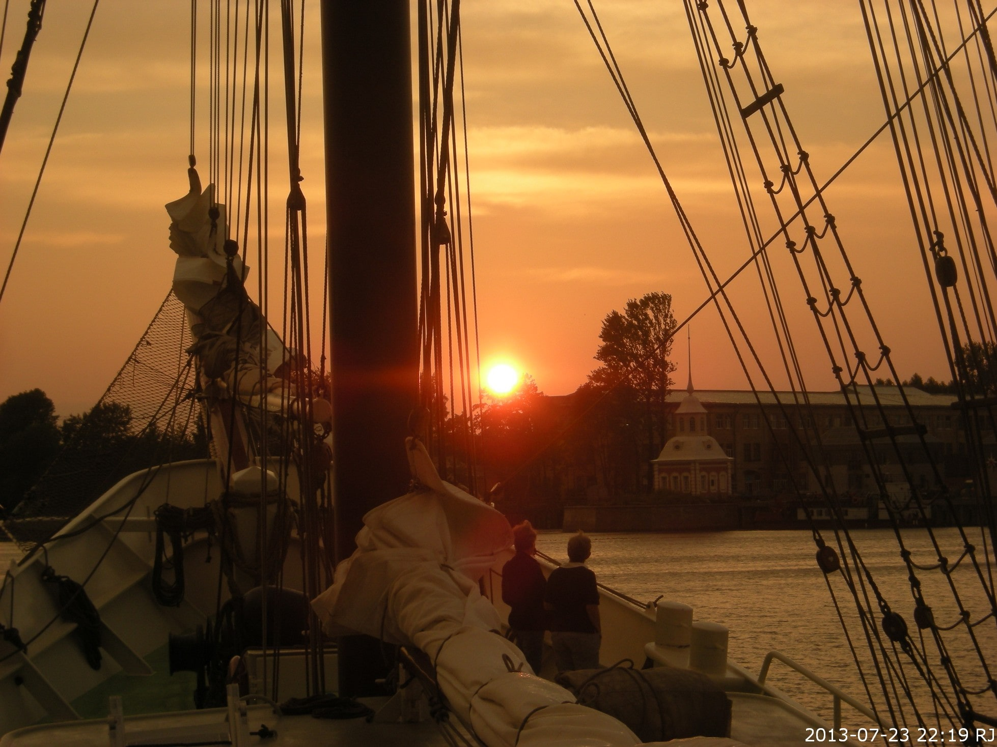 Sunset on Tall Ship Artemis